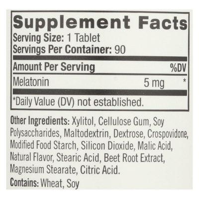 Natrol Melatonin Fast Dissolve Tablets Strawberry (5 Mg) - 90 Tablets