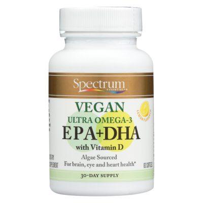 Spectrum Essentials Vegan Ultra Omega-3 EPA + DHA - 60 Soft Gels