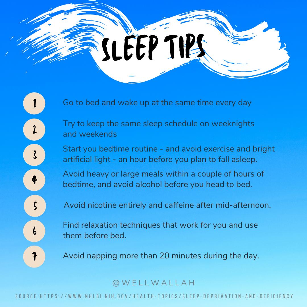 Tips for a good night's sleep every night